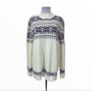 Alfred Dunner NEW Mock Neck Pullover Sweater Ivory